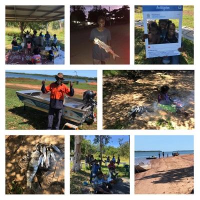 Family fishing fun in Arakun